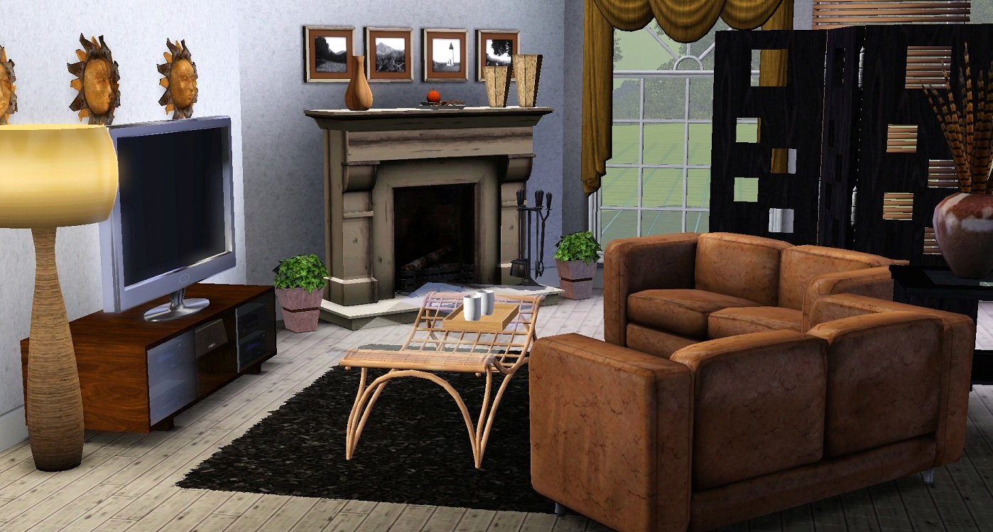 Sims 3 and interior decorating mmo gamer chick for Living room ideas sims 3
